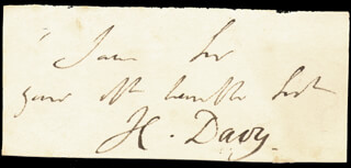Autographs: SIR HUMPHRY DAVY - AUTOGRAPH SENTIMENT SIGNED