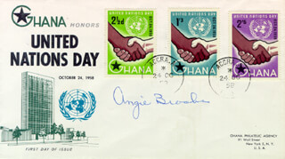 ANGIE BROOKS - FIRST DAY COVER SIGNED