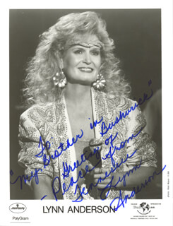 LYNN ANDERSON - INSCRIBED PRINTED PHOTOGRAPH SIGNED IN INK