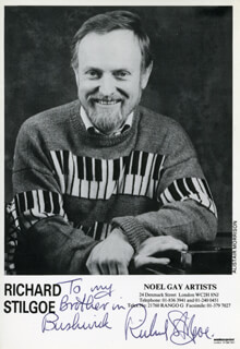 RICHARD STILGOE - INSCRIBED PRINTED PHOTOGRAPH SIGNED IN INK