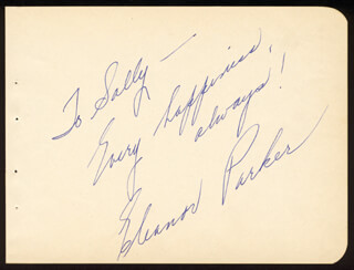 ELEANOR PARKER - AUTOGRAPH NOTE SIGNED