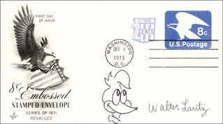 WALTER LANTZ - FIRST DAY COVER SIGNED