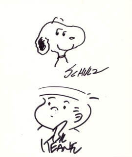 CHARLES M. SCHULZ - ORIGINAL ART SIGNED CO-SIGNED BY: BIL KEANE