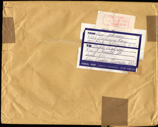 BEN JOHNSON - AUTOGRAPH ENVELOPE SIGNED CIRCA 1984