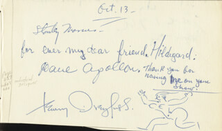 MARTHA (DODD) STERN - AUTOGRAPH NOTE SIGNED CIRCA 1946 CO-SIGNED BY: HENRY DREYFUSS, DAVE APOLLON, ALFRED K. STERN