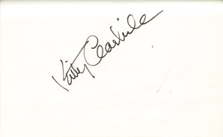 KITTY CARLISLE - AUTOGRAPH
