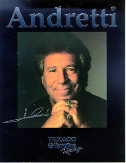 MARIO ANDRETTI - AUTOGRAPHED SIGNED PHOTOGRAPH CIRCA 1995  - HFSID 178808