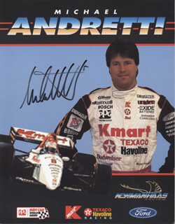 MICHAEL M. ANDRETTI - AUTOGRAPHED SIGNED PHOTOGRAPH