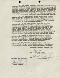 JAMES JIMMY STEWART - DOCUMENT SIGNED 05/23/1963