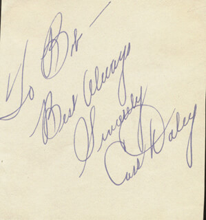 CASS DALEY - AUTOGRAPH NOTE SIGNED