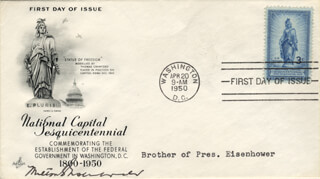 MILTON S. EISENHOWER - FIRST DAY COVER SIGNED