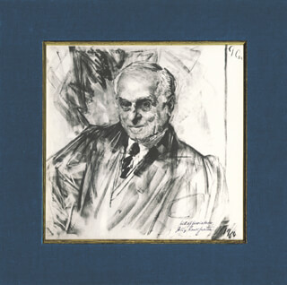 Autographs: ASSOCIATE JUSTICE FELIX FRANKFURTER - PRINTED ART SIGNED IN INK