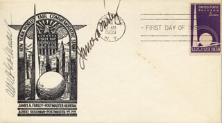 Autographs: JAMES A. FARLEY - FIRST DAY COVER SIGNED CO-SIGNED BY: ALBERT GOLDMAN