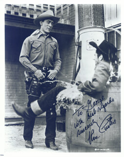 KEN CURTIS - AUTOGRAPHED INSCRIBED PHOTOGRAPH