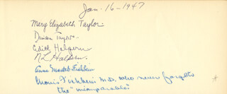 MORRIS FISHBEIN - AUTOGRAPH 01/16/1947 CO-SIGNED BY: ANNA MANTEL FISHBEIN