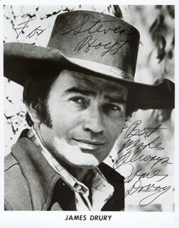 JAMES DRURY - AUTOGRAPHED INSCRIBED PHOTOGRAPH