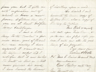 LUCIUS HARWOOD FOOTE - AUTOGRAPH LETTER SIGNED 01/12/1874