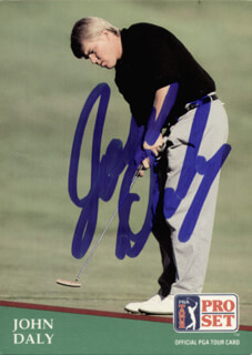 Autographs: JOHN DALY - TRADING/SPORTS CARD SIGNED