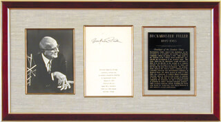 BUCKMINSTER FULLER - INVITATION SIGNED