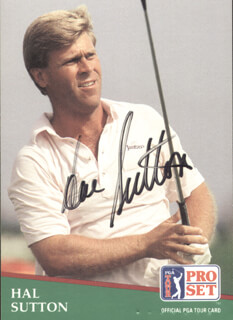 Autographs: HAL E. SUTTON - TRADING/SPORTS CARD SIGNED