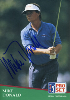 MIKE DONALD - TRADING/SPORTS CARD SIGNED
