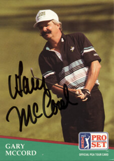 GARY McCORD - TRADING/SPORTS CARD SIGNED