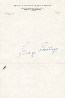 GEORGE H. GALLUP - AUTOGRAPH