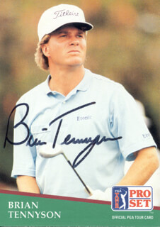 Autographs: BRIAN TENNYSON - TRADING/SPORTS CARD SIGNED
