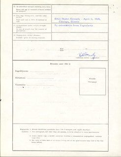 Autographs: ROBERT F. KENNEDY - APPLICATION SIGNED