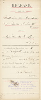 Autographs: BLANCHE K. BRUCE - PRINTED DOCUMENT SIGNED IN INK