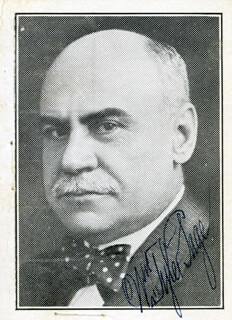 WILLIAM TYLER PAGE - AUTOGRAPHED SIGNED PHOTOGRAPH