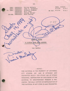 BETH PETERS - SCRIPT DOUBLE SIGNED CIRCA 1984