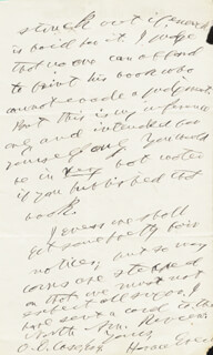 HORACE GREELEY - AUTOGRAPH LETTER SIGNED 02/25/1867