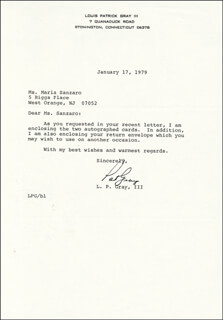 L. PATRICK GRAY III - TYPED LETTER SIGNED 01/17/1979