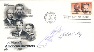 Autographs: JACK S. KILBY - ORIGINAL ART ON FIRST DAY COVER SIGNED