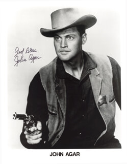 Autographs: JOHN AGAR - PRINTED PHOTOGRAPH SIGNED IN INK