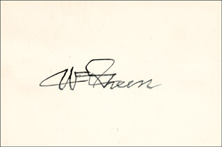 WILLIAM GREEN - AUTOGRAPH