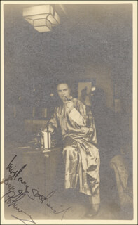 SAX ROHMER - PICTURE POST CARD SIGNED