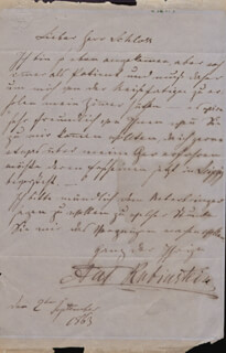 ANTON RUBINSTEIN - AUTOGRAPH LETTER SIGNED 09/02/1863
