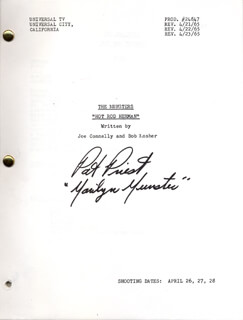 PAT PRIEST - SCRIPT SIGNED CIRCA 1965