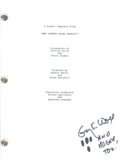 GARY K. WOLF - SCRIPT SIGNED