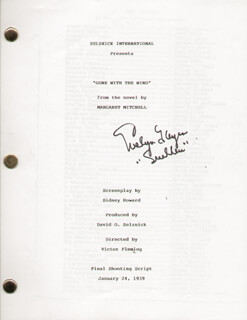 EVELYN KEYES - SCRIPT SIGNED