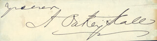 Autographs: A. OAKEY HALL - SIGNATURE(S)