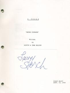 LARRY STORCH - SCRIPT SIGNED CIRCA 1966