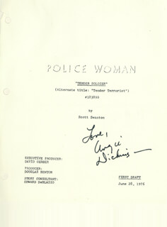 ANGIE DICKINSON - SCRIPT SIGNED CIRCA 1976