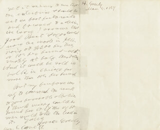 HORACE GREELEY - AUTOGRAPH LETTER DOUBLE SIGNED 03/04/1867
