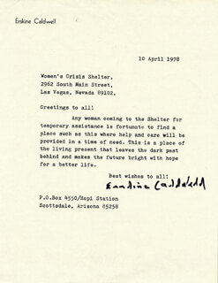 ERSKINE CALDWELL - TYPED LETTER SIGNED