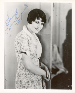 LINA BASQUETTE - AUTOGRAPHED SIGNED PHOTOGRAPH 1982