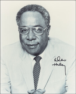 ALEX HALEY - AUTOGRAPHED SIGNED PHOTOGRAPH