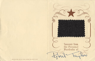 Autographs: ROBERT TAYLOR - EPHEMERA SIGNED